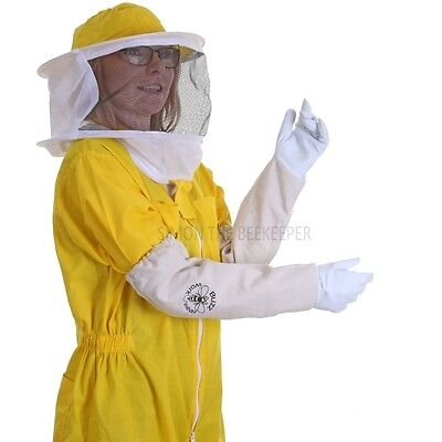 [FR]  Buzz Basic Beekeeping Yellow Round Veil Bee Suit & Gloves- SELECT SIZE