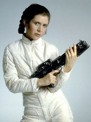 "048 Carrie Fisher - Princess Leia Organa Star War USA Actor 24""x31"" Poster"