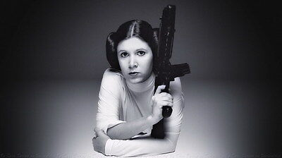 "031 Carrie Fisher - Princess Leia Organa Star War USA Actor 42""x24"" Poster"