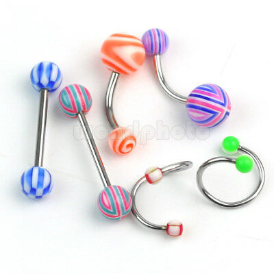 Wholesale Lot 100 Labret Lip Belly Tongue Bar Ring Barbell Body Piercing Jewelry