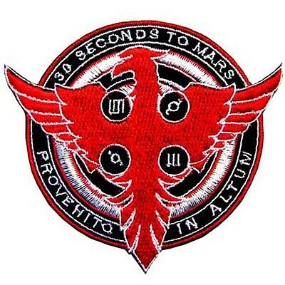 30 Thirty Seconds To Mars Flyer Music Logo Rock Iron Patch