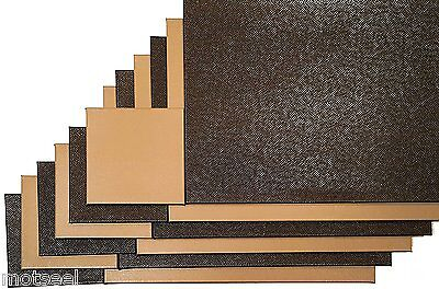 6 x Faux Leather Placemats With Matching Coasters - Reversible Light,Dark Brown.