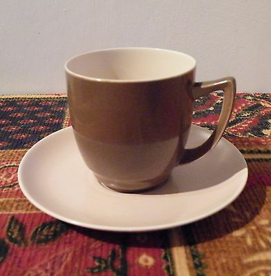 Vintage Branksome Tea Cup and Saucer, Ernest Baggaley, Twin Tone Glaze