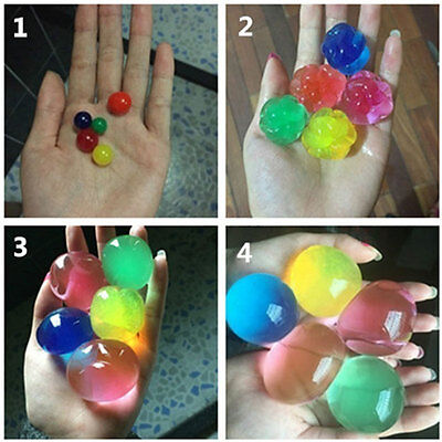 Big Jumbo Crystal Soil Water Swelling Beads Mud Grow Magic Jelly Balls Home