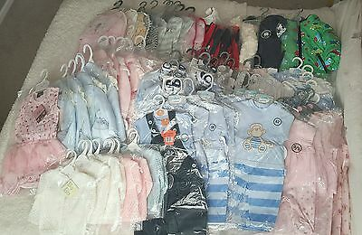 wholesale job lot baby toddler clothes new 78 items bargain clearance boys girls
