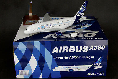 """Airbus A380 """"Flying the A350 XWB Engine"""" JC Wings 1:200 Diecast Models XX2397"""