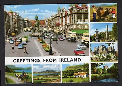 """GREETINGS FROM IRELAND"" Multi View Postcard Ireland"