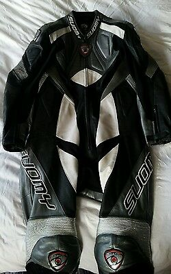 Suomy One Piece leathers, Size 50 Euro, 38/40 UK