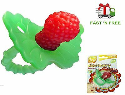 RazBerry Teether Non Toxic Baby Dummy Raspberry Silicone Toy
