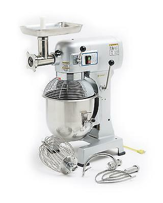 Hebvest 20 Quart Commercial Stand Mixer With Meat Grinder Attachment - Sm20Hd