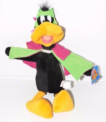 Looney Tunes Duck Dogers Daffy Cape Mask Super Hero Plush Stuffed Animal NEW