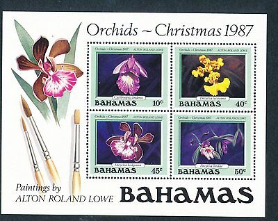 Bahamas 1987 Christmas, Orchids MS