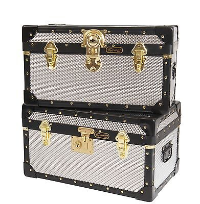 Traditional British Mossman Boarding School Tuck Box DIAMOND EMBOSSED ALUMINIUM