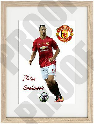 Zlatan Ibrahimovic A4 Poster Truly Unique, Manchester United 2016 Old Trafford