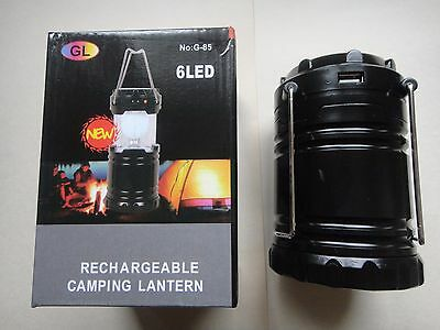Solar Panel rechargeable outdoor camping light Lantern USB charger US Seller