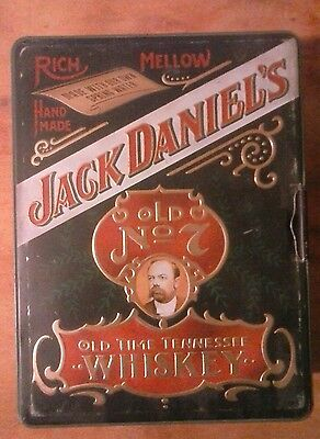 Vintage Jack Daniels Poker Tin With Chips, No Cards.