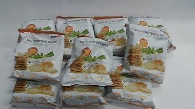 High Protein Chips Sour Cream & Onion  Eiweiß Fitness Snack 14x 50g       (R335)