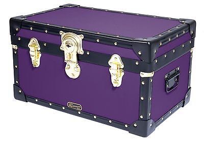PURPLE Traditional British Mossman Made Boarding School Tuck Box Storage Trunk