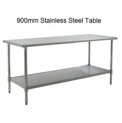 New Stainless Steel Commercial Catering Kitchen Table + Under Shelf 90cm 2.95ft