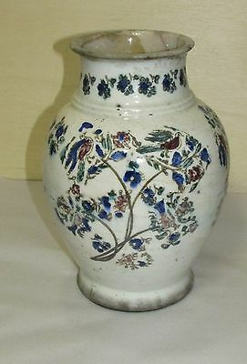 Early Antique Middle Eastern Persian Ceramic Vase AS - IS Condition .