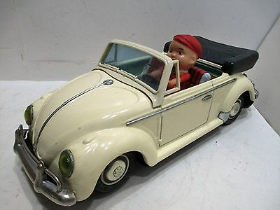 """Volkswagen Cabriolet Convertible Excllent Cond Large 13 1/2"""" All Tin  Japan"""
