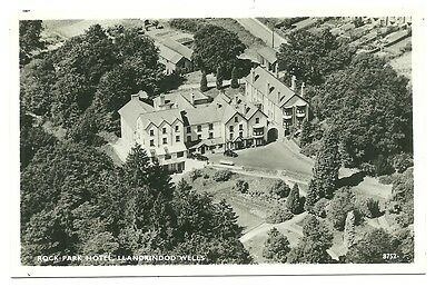 Llandrindod Wells - a photographic postcard of the Rock Park Hotel from the air