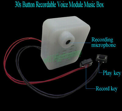 30s Button Recordable Voice Module Music Box Sound Record F Plush Doll Toy Gift