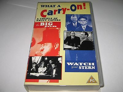 THE BIG JOB (1965) & WATCH YOUR STERN (1960) 2 on 1 VHS VIDEO : Sid James