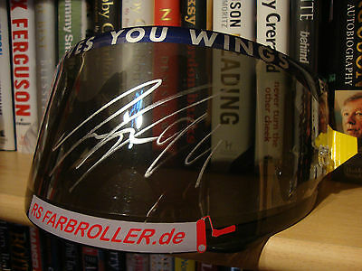 Practice Used & Signed Jonas Folger Visor - Not A Replica! - Not Rossi - Yamaha