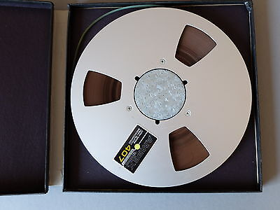 Tonband AMPEX 407 26,5cm Metallspule LOW NOISE HIGH OUTPUT BACK COATED