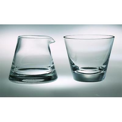 Majestic Gifts T-301 Classic clear High Quality Glass Cream And Sugar Set