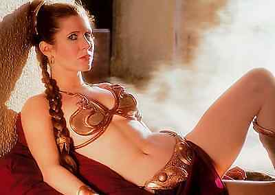 Unofficial Star Wars Princess Leia (2) *Glossy* A4 print Poster - Disney BB-8