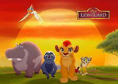 Unofficial The LION GUARD (3) *Glossy* A4 print Poster - Disney Simba Frozen