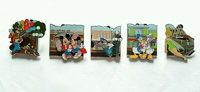 Disney Pin Disneystore.com Exclusive Main Street USA Complete Set of 5 Mickey