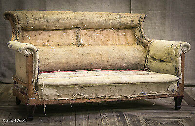 Antique Late 19th Century Country House Two Seat Sofa