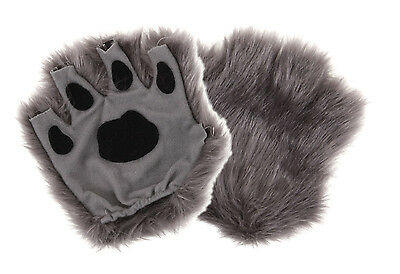 Gray Fingerless Paw Costume Accessory