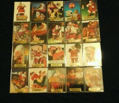 1993 coca-cola santa claus inserts trading cards 1 to 20 complete