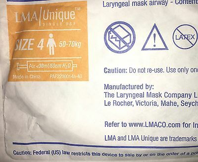 LMA Unique Laryngeal mask Airway-Size 4-ref 128040