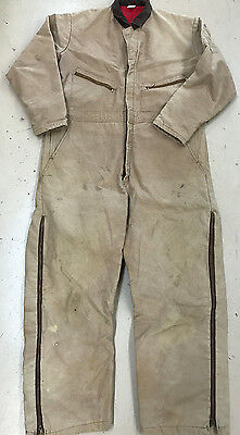 Big Ben Tan Insulated Coveralls Size: Large Used (7_623)