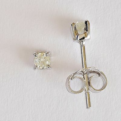 Small Diamond Stud Earrings. 2 X 5 Point Natural Diamonds. Solid 9K White Gold.