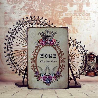 Retro Metal Sign Tin Poster HOME Tavern Chic Shabby Plaque Wall Art Decor