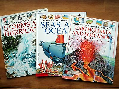 3 Usborne Understanding Geography *Storms Hurricanes *Earthquakes Volcanoes *Sea
