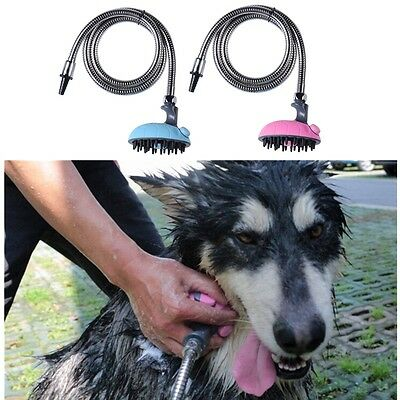 Pet Dog Cat Multifunctional Bath Shower Head Massage Shampoo Sprayer Groom