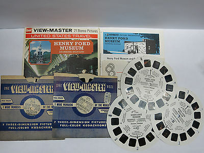 A586 + 84 + 85 Edison Museum Henry Ford Dearborn Michigan Vintage Viewmaster Lot