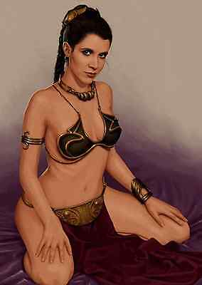 Unofficial Star Wars Princess Leia (37) A4 print Poster - Carrie Fisher Rogue