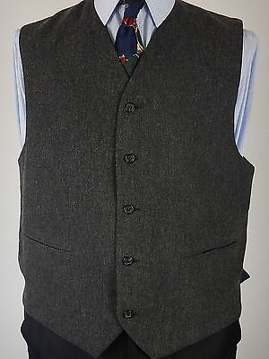 Mens Grey Cotton Blend Casual Or Formal Waistcoat Vest Size UK 44
