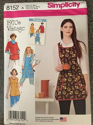 Simplicity Sewing Pattern 8152 Ladies  Vintage Style Aprons with Pockets New