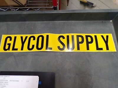 5ADC9 Pipe Marker, Glycol Supply, Yel, 8 In or Greater, 17PK (J)