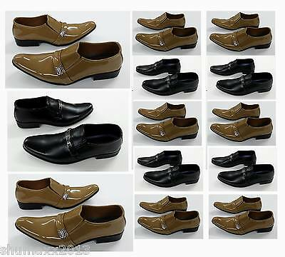 NEW MENS SHOES Slip ons  SMART CASUAL FORMAL WEDDING SHOES ITALIAN DRESS  PARTY
