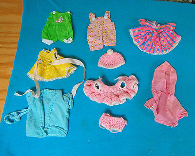 """Group Lot Of Vintage Baby Doll Clothes Small Size 7-8"""""""